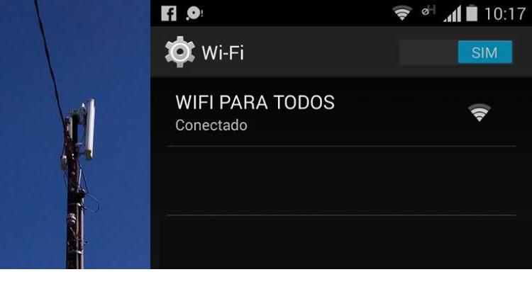 Wi - Fi nas Praças Públicas da cidade