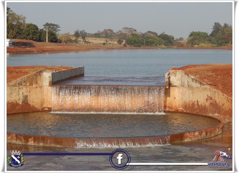 lago de Viradouro atingiu o nível máximo