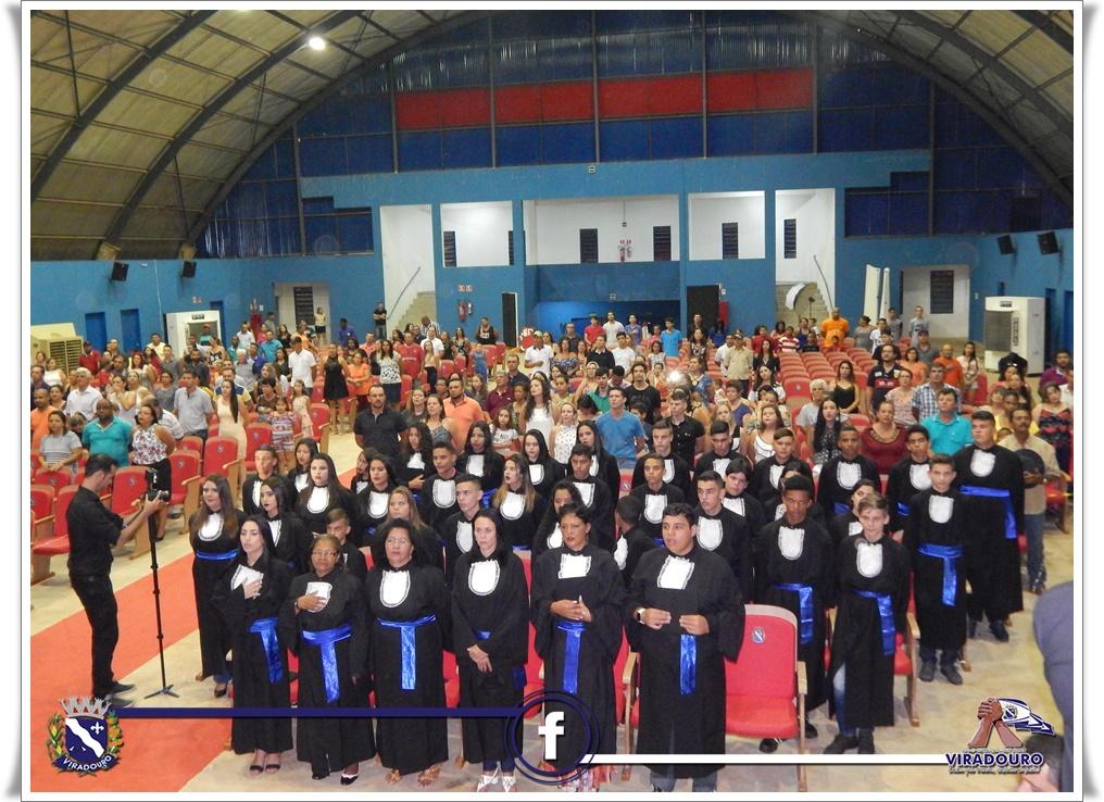 Colação de grau dos alunos do 9° ano da Milton Marçal Vieira