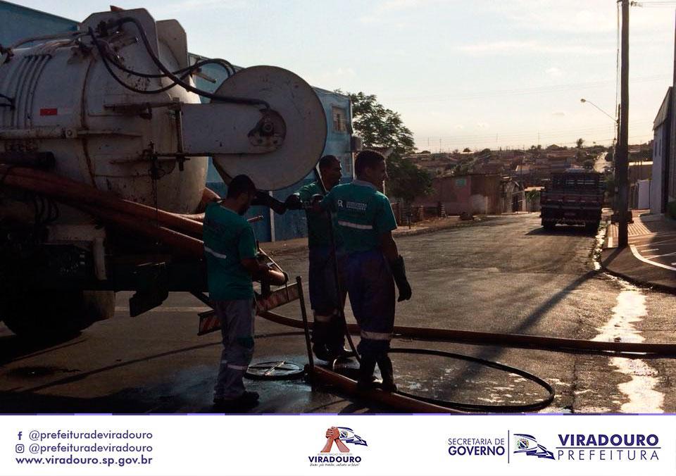 Desobstrução de Rede de Esgotamento Sanitário