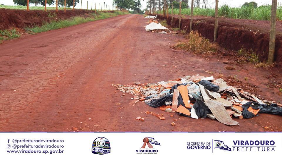 Descarte de Lixo e Entulhos na Vicinal do CCV - 200 metros do EcoPonto