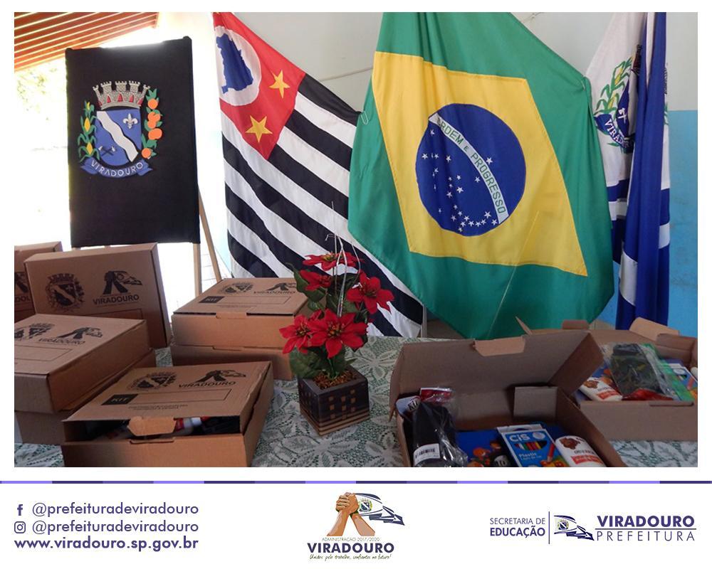 Entrega dos Kits Escolares na EMEF Professora Marília Ribeiro Porto Rosseto e da EMEI Professora Eonice Passanlongo Gibran