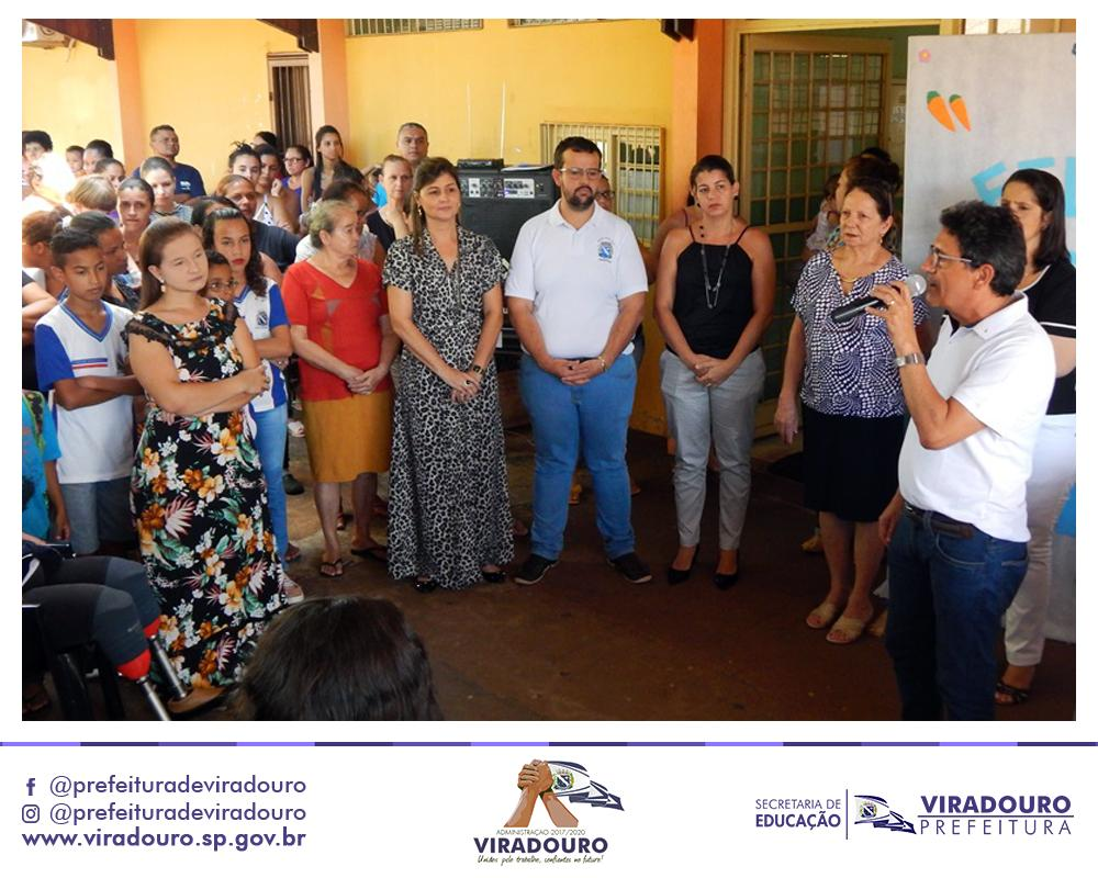 Entrega dos Kits nas Escolas EMEI Nuvem Azul João de Souza Lima e EMEF Milton Marçal Silveira