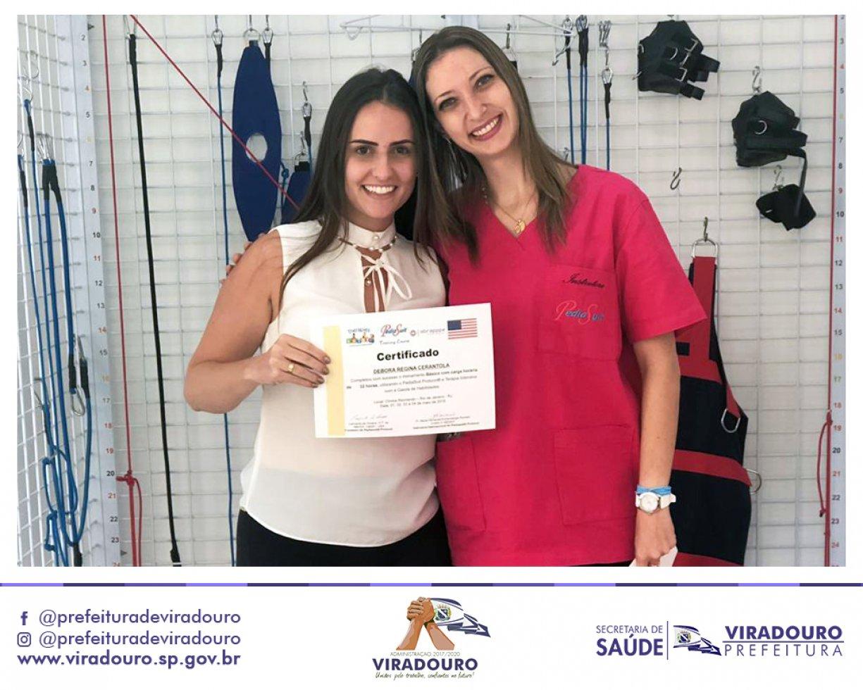 Fisioterapeuta de Viradouro Participa do Curso de Pediasuit no Rio de Janeiro