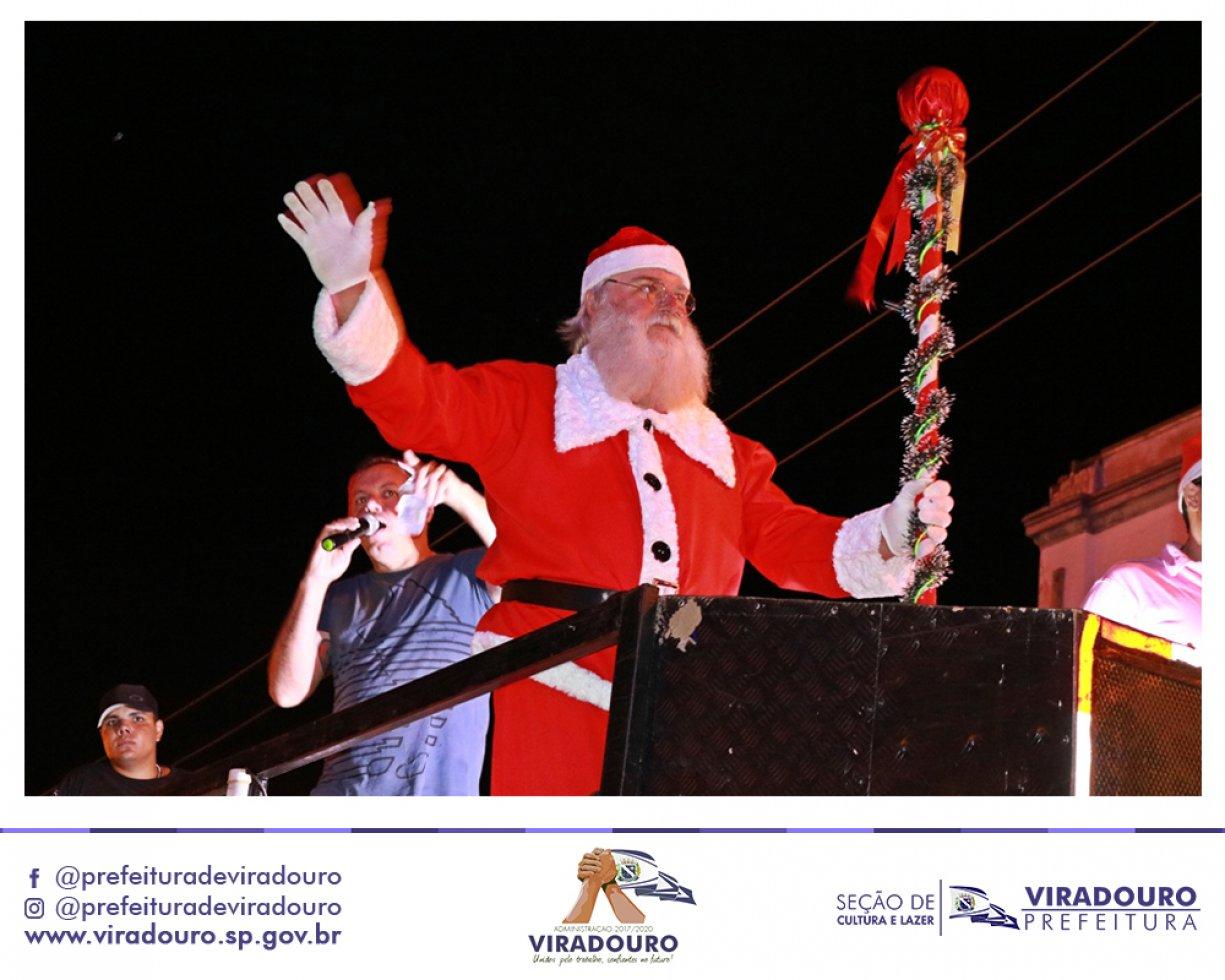 Chegada do Papai Noel em Viradouro Com Muitas Novidades