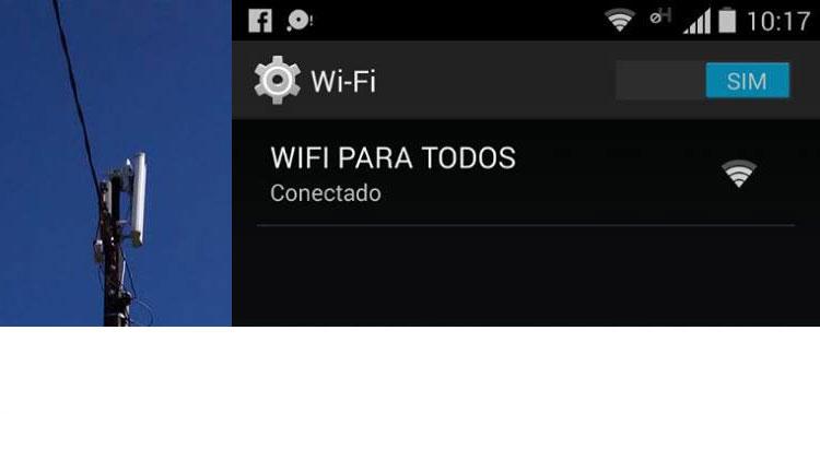 Administração instala Wi - Fi nas Praças Públicas da cidade .