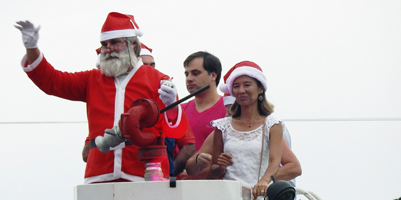 A chegada do Papai Noel
