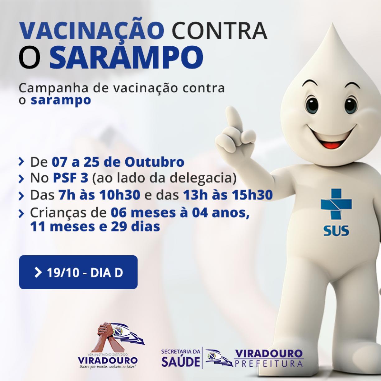 Campanha de Vacinação Sarampo
