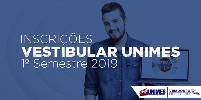 Vestibular Unimes - 1º Semestre 2019