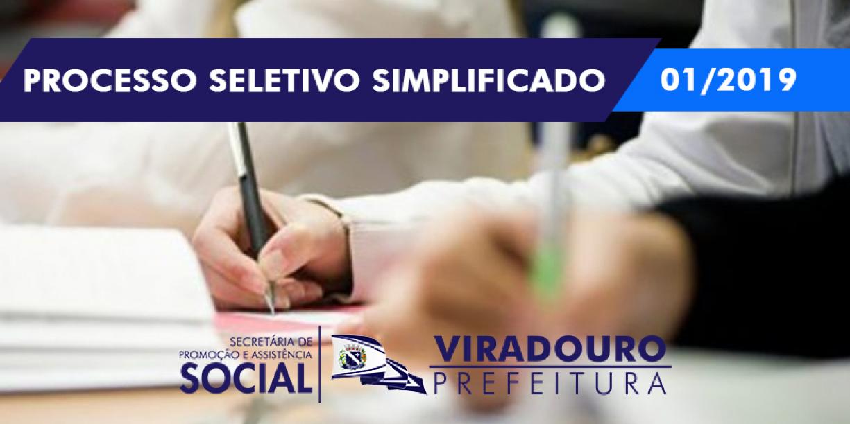 Prazo para Inscrições no Processo Seletivo Simplificado 01/2019 Foi Prorrogado