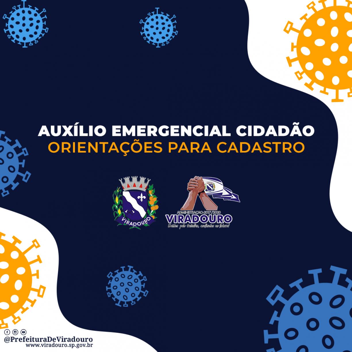 Orientações para Cadastro e Solicitação do Benefício de Auxílio Emergencial Cidadão