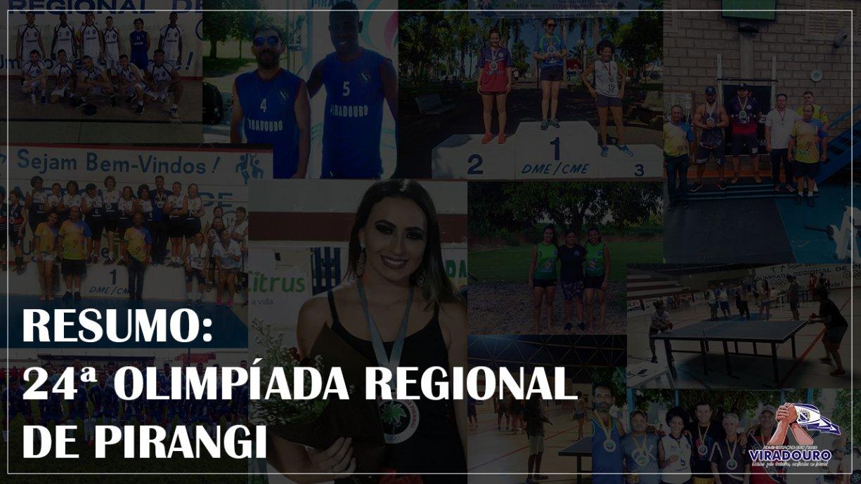 Resumo das Olimpíadas de Pirangi