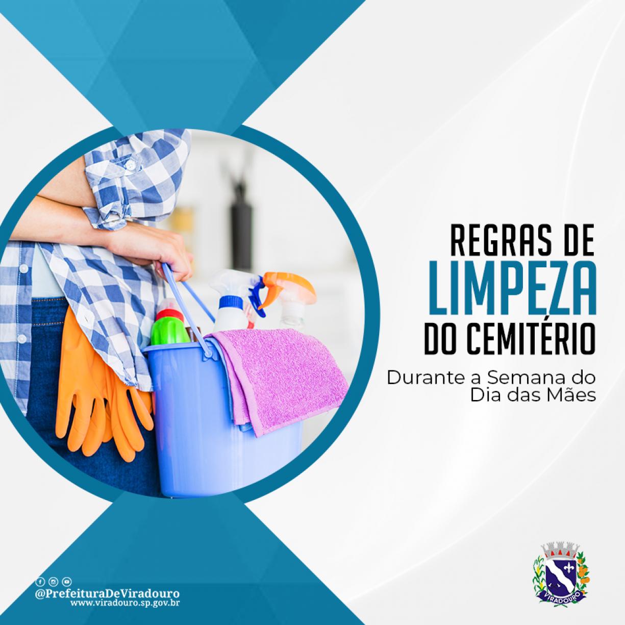 Prefeitura Define Regras Para Frequência e Limpeza do Cemitério Durante a Semana do Dia das Mães