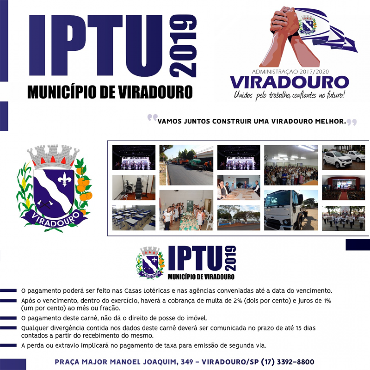 Carnês do IPTU 2019