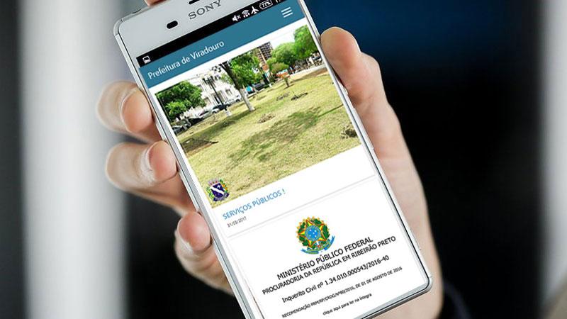 Já encontra-se disponível o APP Android para o site Oficial da Prefeitura de Viradouro
