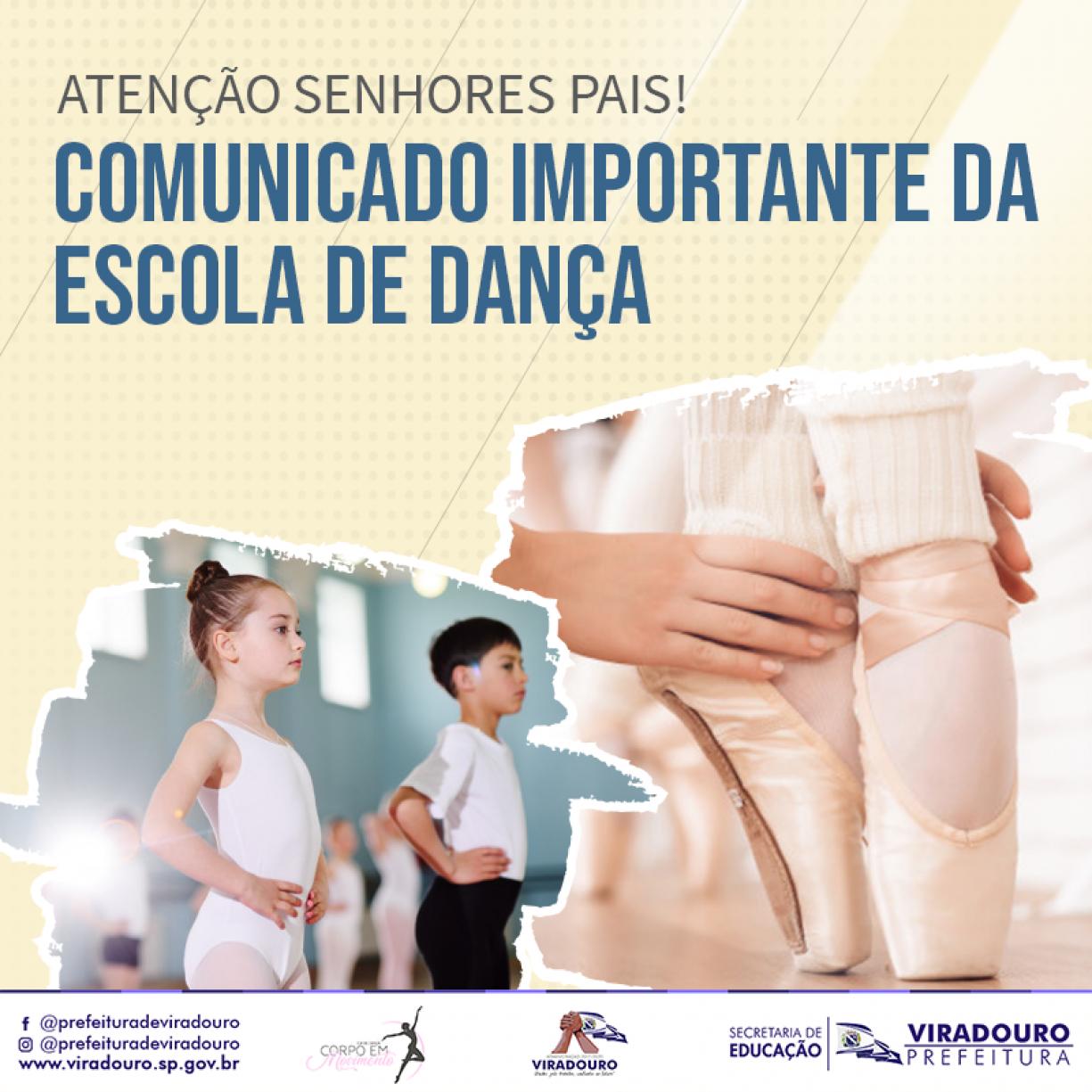 Comunicado Importante da Escola de Dança