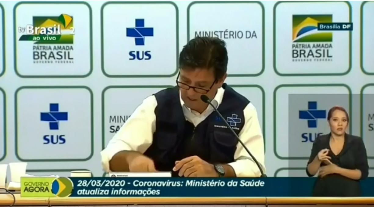 CORONAVÍRUS - O MINISTRO DA SAÚDE, LUIZ HENRIQUE MANDETTA ADVERTE: