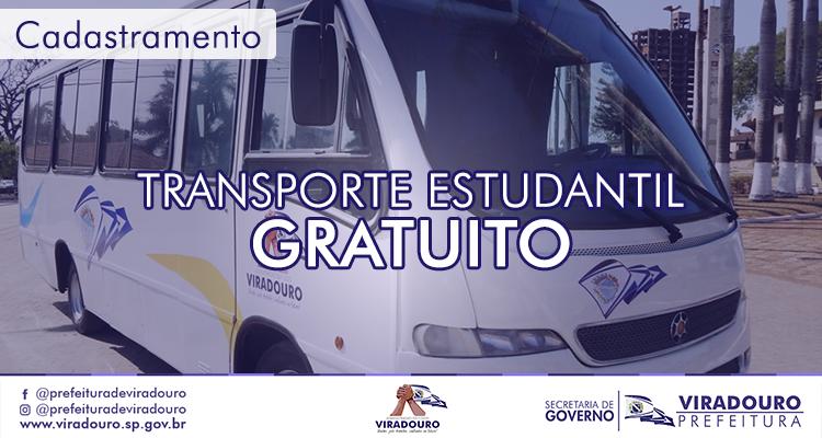 Cadastramento Transporte Estudantil Gratuito