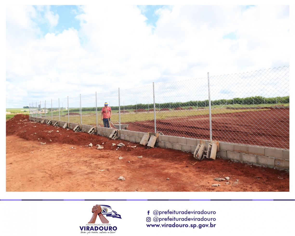 Área de Esporte e Lazer Está Sendo Construída Próxima Aos Bairros Jardim Brícia e Jardim Progresso