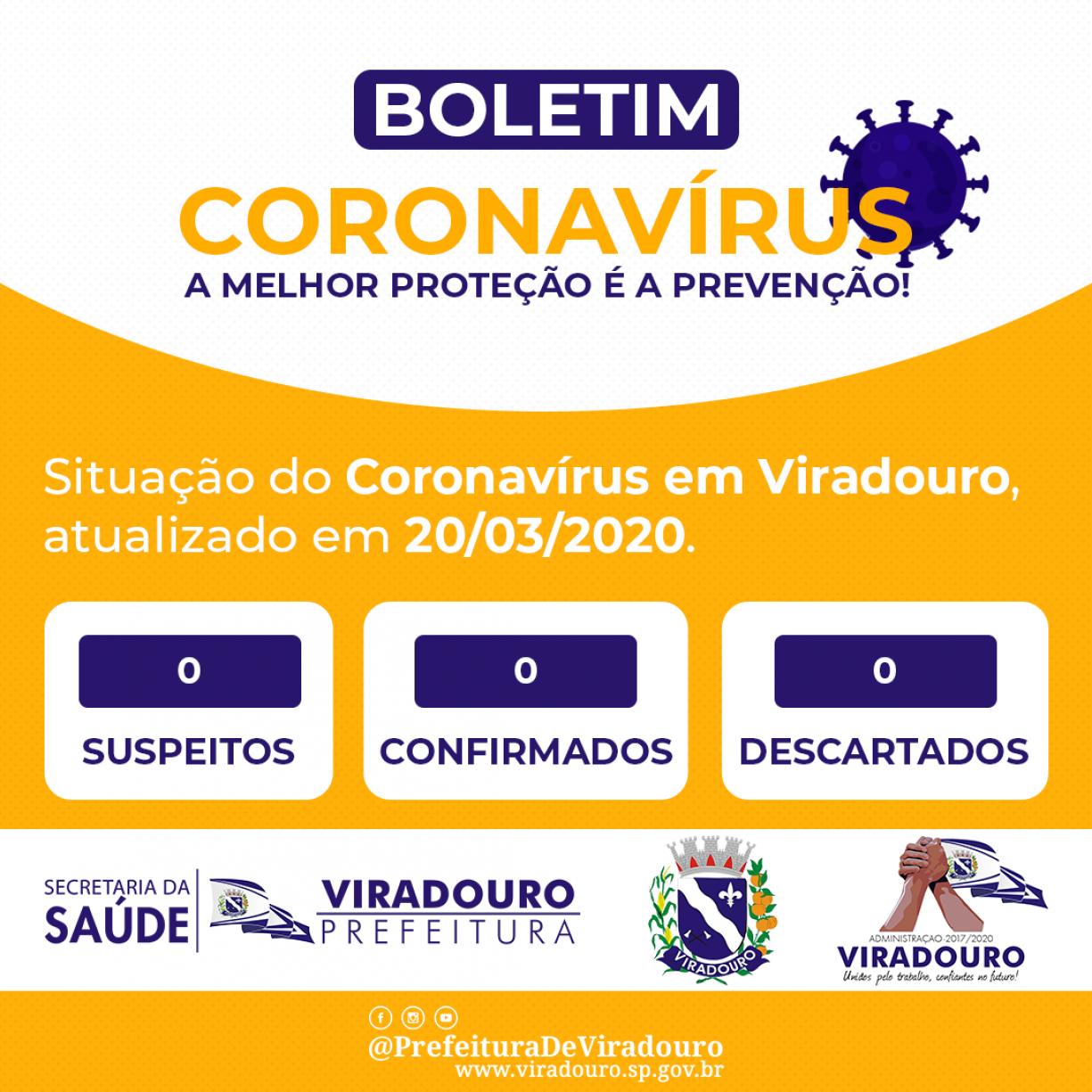 Boletim Informativo Coronavírus em Viradouro (Atualização - 20/03/2020)