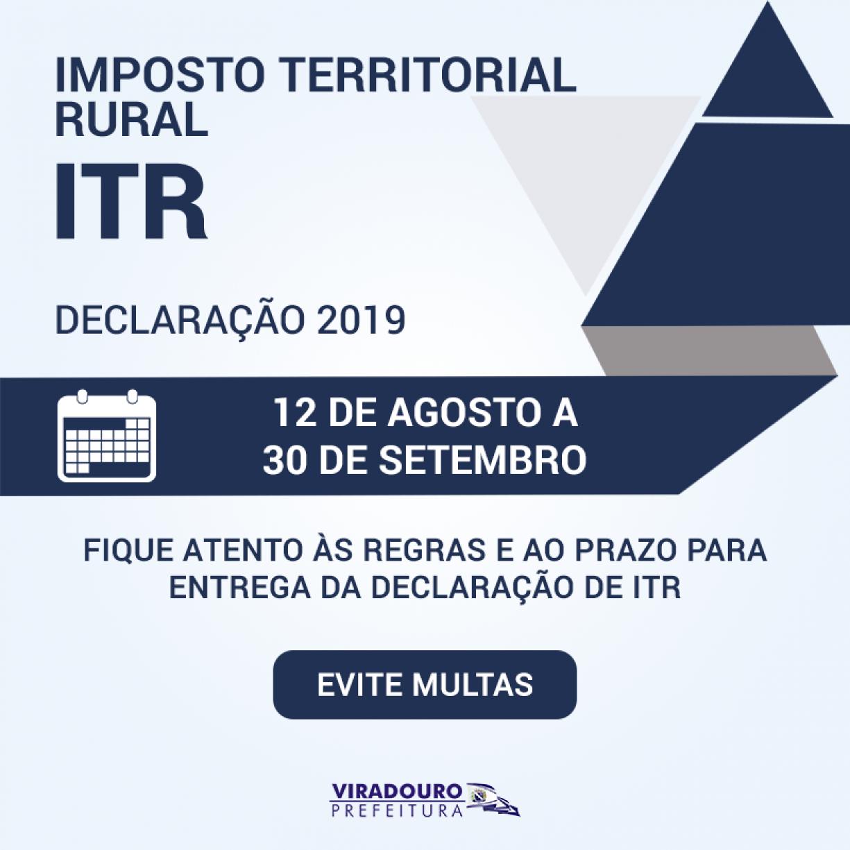 Declaração do ITR 2019 - Fique Atento!