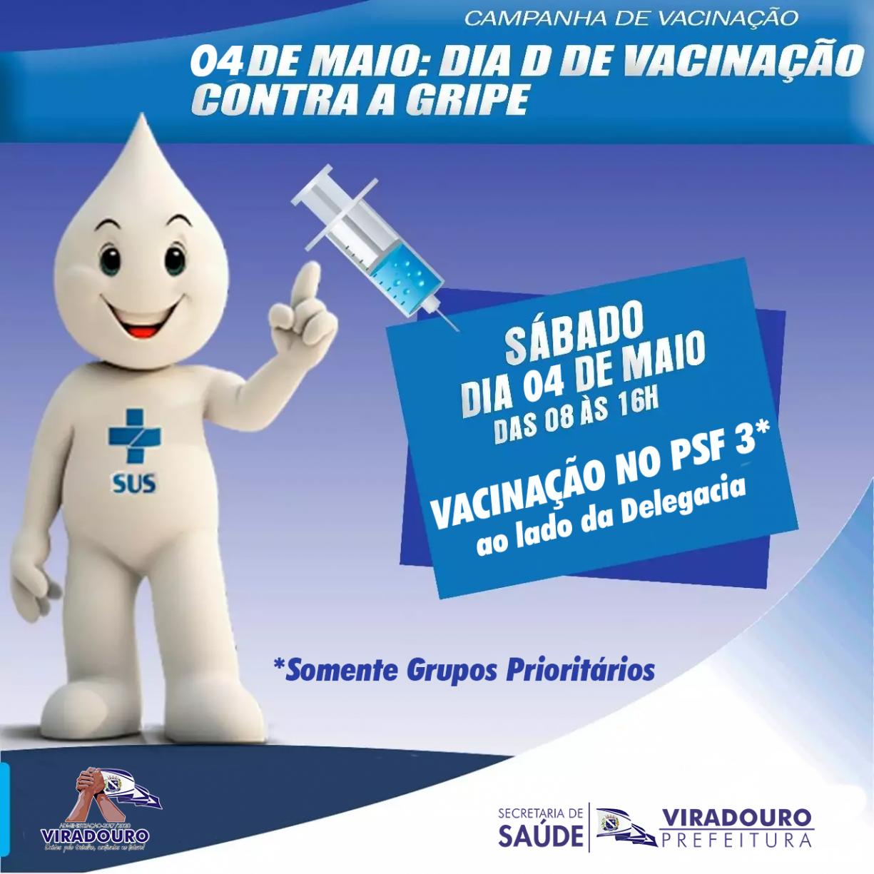 Dia D de Vacinação Contra Gripe
