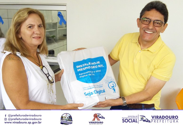 Entrega dos Kits da TV Digital ao Hospital